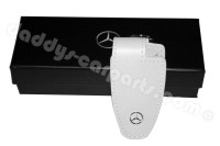 KEYCHAIN MERCEDES WHITE LEATHER