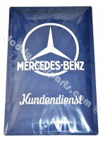 MERCEDES BENZ CAR GARAGE PLATE KUNDENDIENST