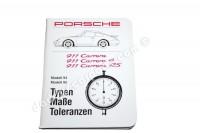 PORSCHE 911 CARRERA 4 RS TYPEN MAßE TOLERANZEN
