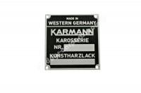 KARMANN BODY PLATE FOR VW PORSCHE 914