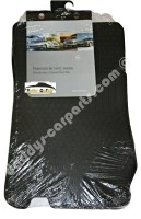 MB FLOOR RUBBER MATS BLACK FRONT