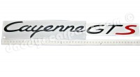 957 CAYENNE GTS BADGE BLACK / RED