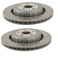 SET MERCEDES FRONT BRAKE DISCS W221 C216 S63 S65 CL63 CL65 AMG 2214211312