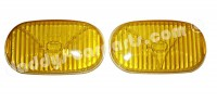 FOG LIGHT LENSES YELLOW FOR 190 SL MERCEDES BENZ