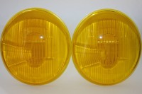 ASYMMETRIC HEADLIGHT LENSES RHD YELLOW FOR PORSCHE 356